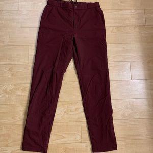 Uniqlo burgundy warm lined pants